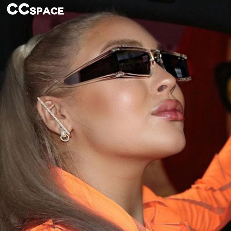 46198 di personalità oversize Rec occhiali da sole donne degli uomini di moda UV400 Occhiali