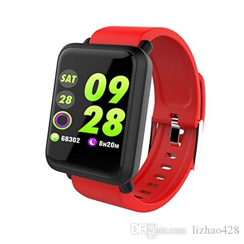 Activity Tracker with Heart Rate Monitor, Waterproof Pedometer Touch Screen Fitness Tracker Step Counter, Sleep Monitor Smart Wristband Brac