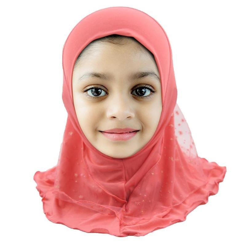 Summer Girls Gasa Musulmana Pañuelo Transpirable Niños Cuello Elástico Cubierta Completa Bufanda Suave Headwrap Caps para los bebés niñas regalos 10 colores