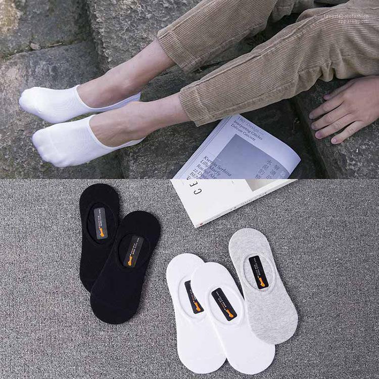 Сплошной Цвет Белый Черный Серый Лодыжки Спортивные Спортивные Носки Мужские Летние Носки