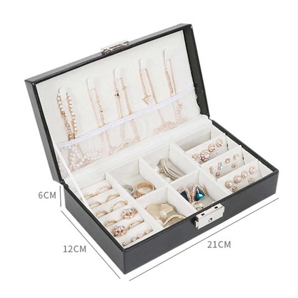 Organizador portátil Multifuncional Adornos simples Caja de almacenamiento Caja de viaje Joyas