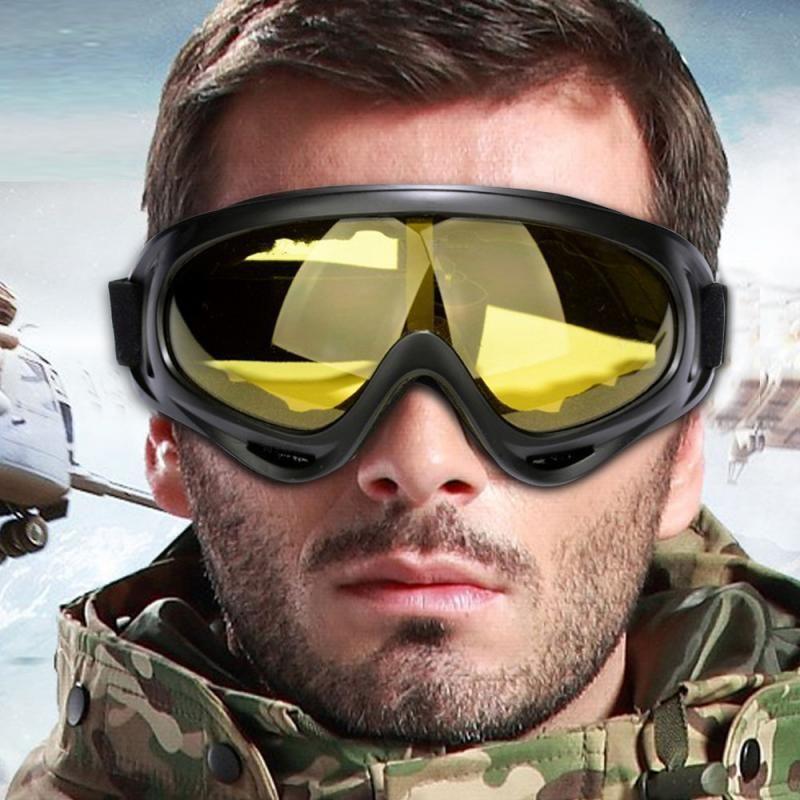Capas Gafas de esquí dobles UV nieve del invierno Deportes Snowboard motonieve anti-vaho gafas a prueba de viento a prueba de polvo de los vidrios