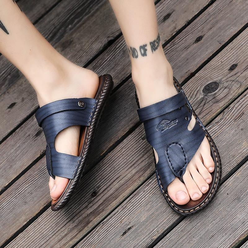 Sandálias de couro Homens New Style do ARUONET Verão suave inferior Lazer Shoes Sandals Recomendar Zandalias Para Hombre Verano