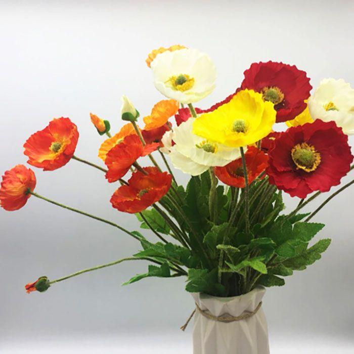 أزياء الزهور الاصطناعية البلاستيك الزهور الجميلة الخشخاش الزفاف باقة الزفاف الرئيسية مول المعرض الديكور