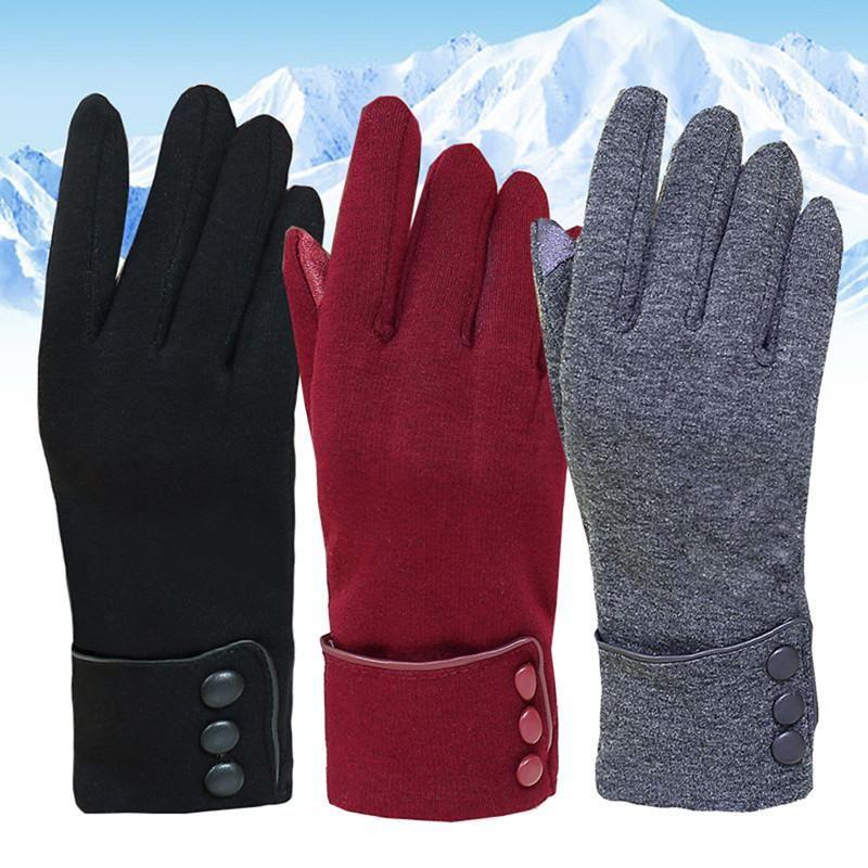 Inverno luvas do toque Tela Non-down Luvas de lã dedo forma completa Quente mão de Esqui Vento proteger as mãos inverno