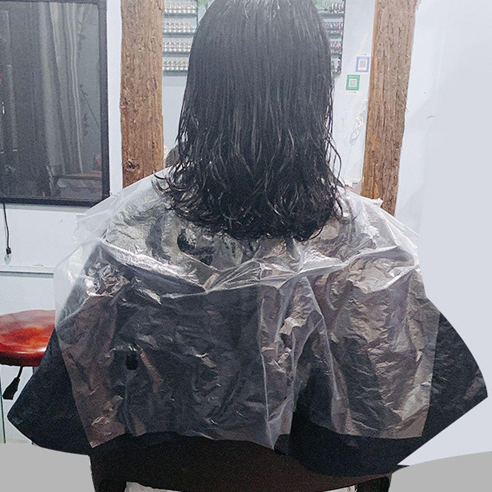 Tek kullanımlık Saç Kesme Cape Salon Önlük Saç Güzellik Temizleyici Bez Şeffaf Şeffaf Antistatik Şekillendirme Kumaş Ev Kuaförlük