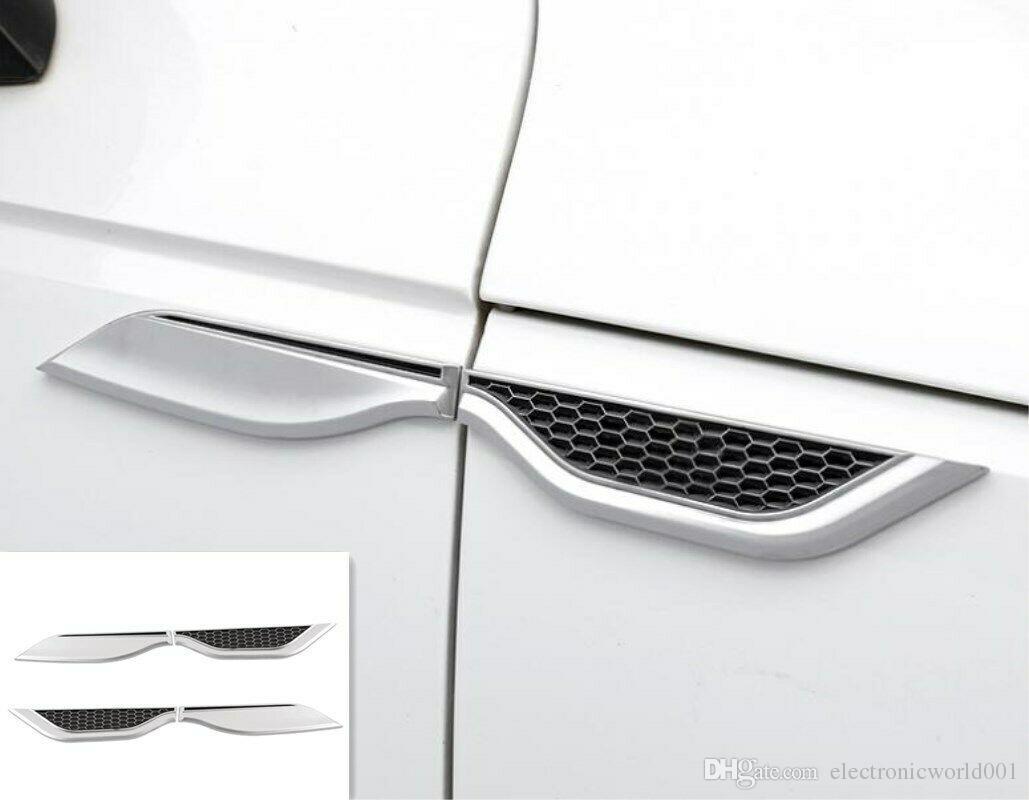 아우디 A3 S3 8V 2014-2019에 대한 ABS 크롬 외부 환기 후드 섭취 펜더 트림