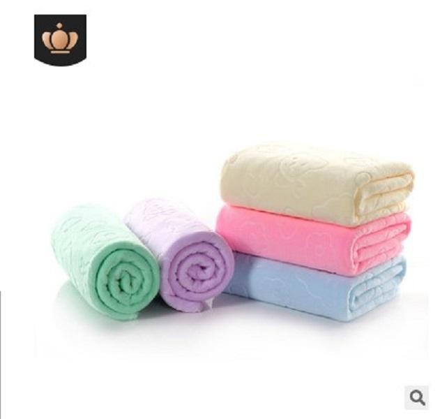 2020 serviette absorbant 70 200G Nano confortable salle de bain chaude * Embossé Grande serviette 140cm Vente de plage Wfaut