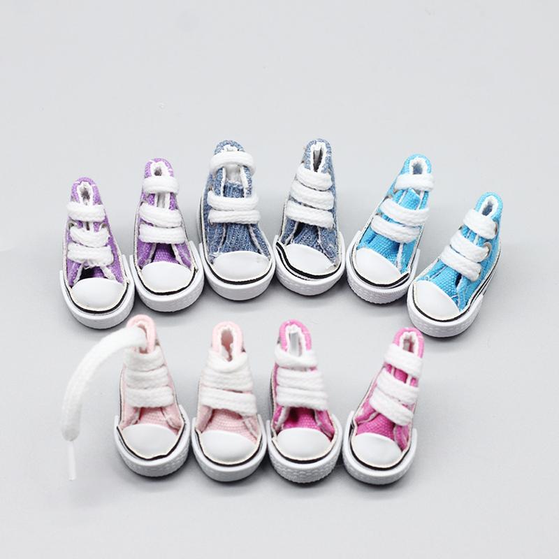 3,5 cm Blyth Doll Shoes varios colores zapatos de muñeca zapatillas de lona para los 1/6 de BJD, azona, accesorios Pullip Órgano Mixto muñecas
