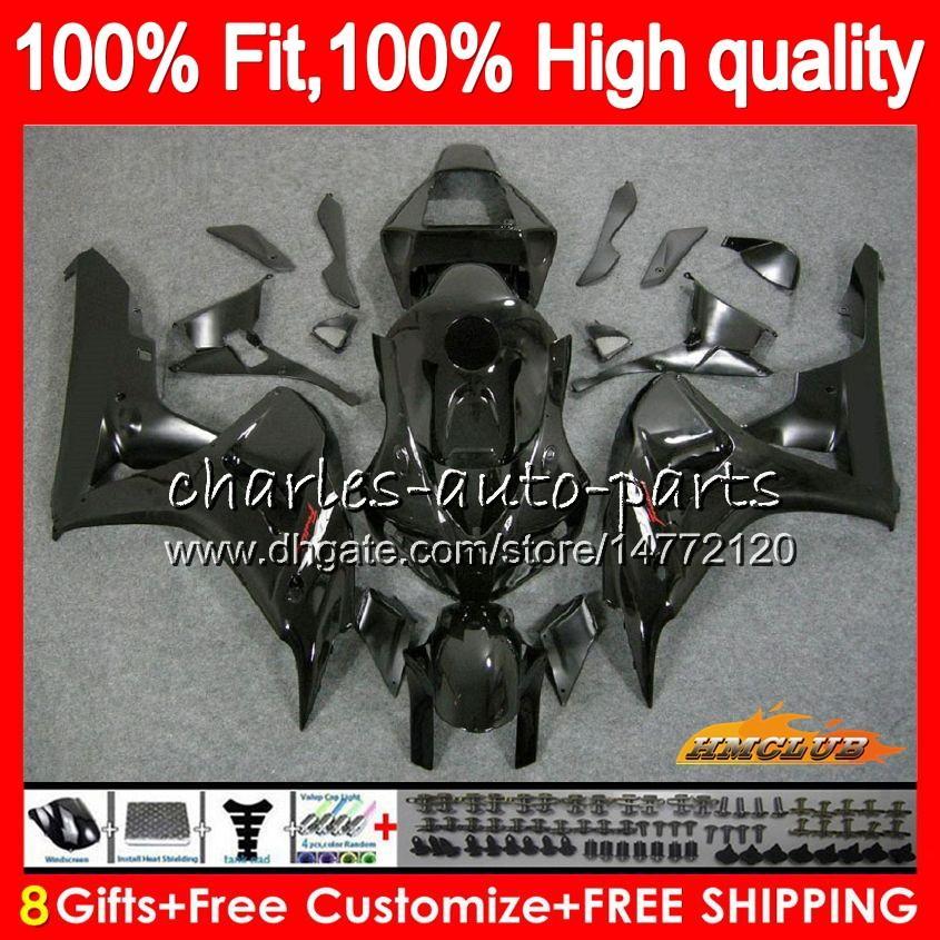 Injektion OEM für Honda Glossy Black CBR 1000CC 1000 RR 06 07 Körper 78HC.1 CBR1000 RR CBR 1000RR CBR1000RR 06 07 2006 2007 100% Fitvereinigung