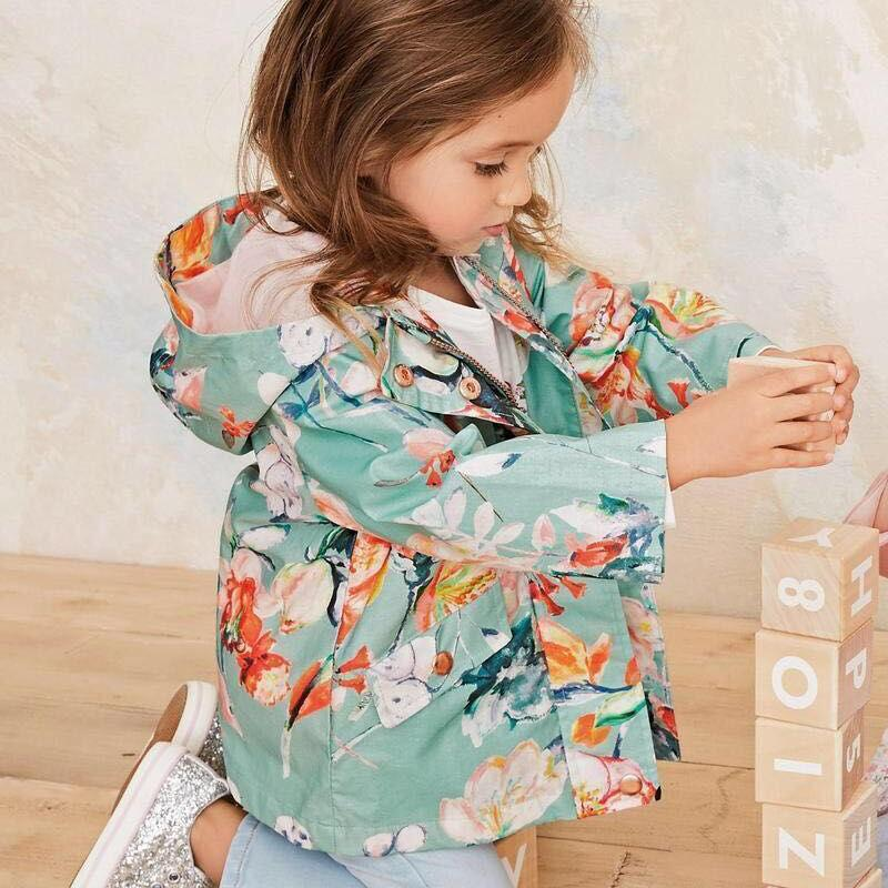 Mädchen Mäntel neuer Herbst-Kinder-Jacken-Winter Windjacke Blumen-Kleidung mit Kapuze Kinder Outwear süßes Kind Outfits