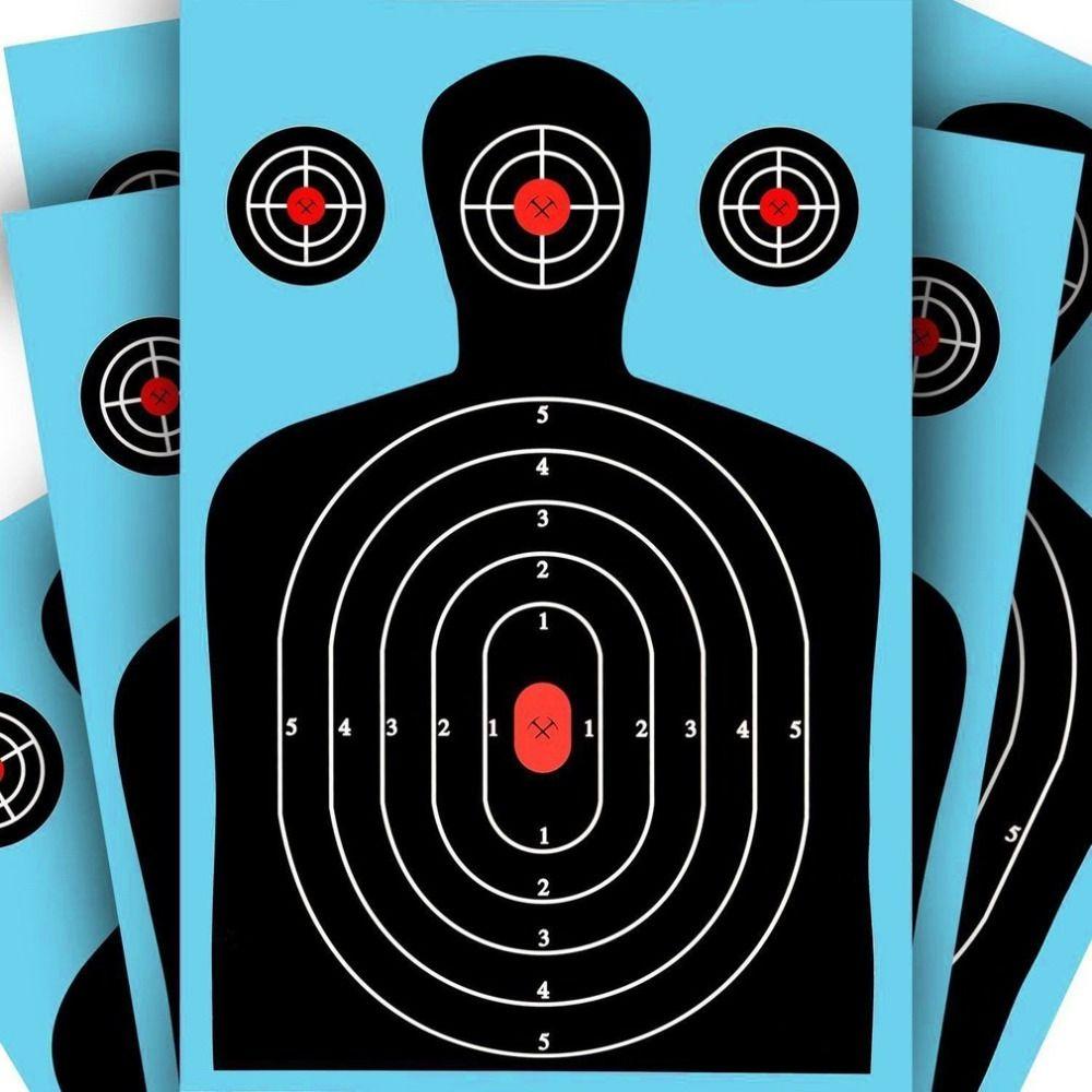 Obiettivo carta Obiettivi di tiro 12 * 18 pollici Silhouette Poor Splatter Reactive Paper Targets Fucile fluorescente Pistola Airsoft Pellet Gun