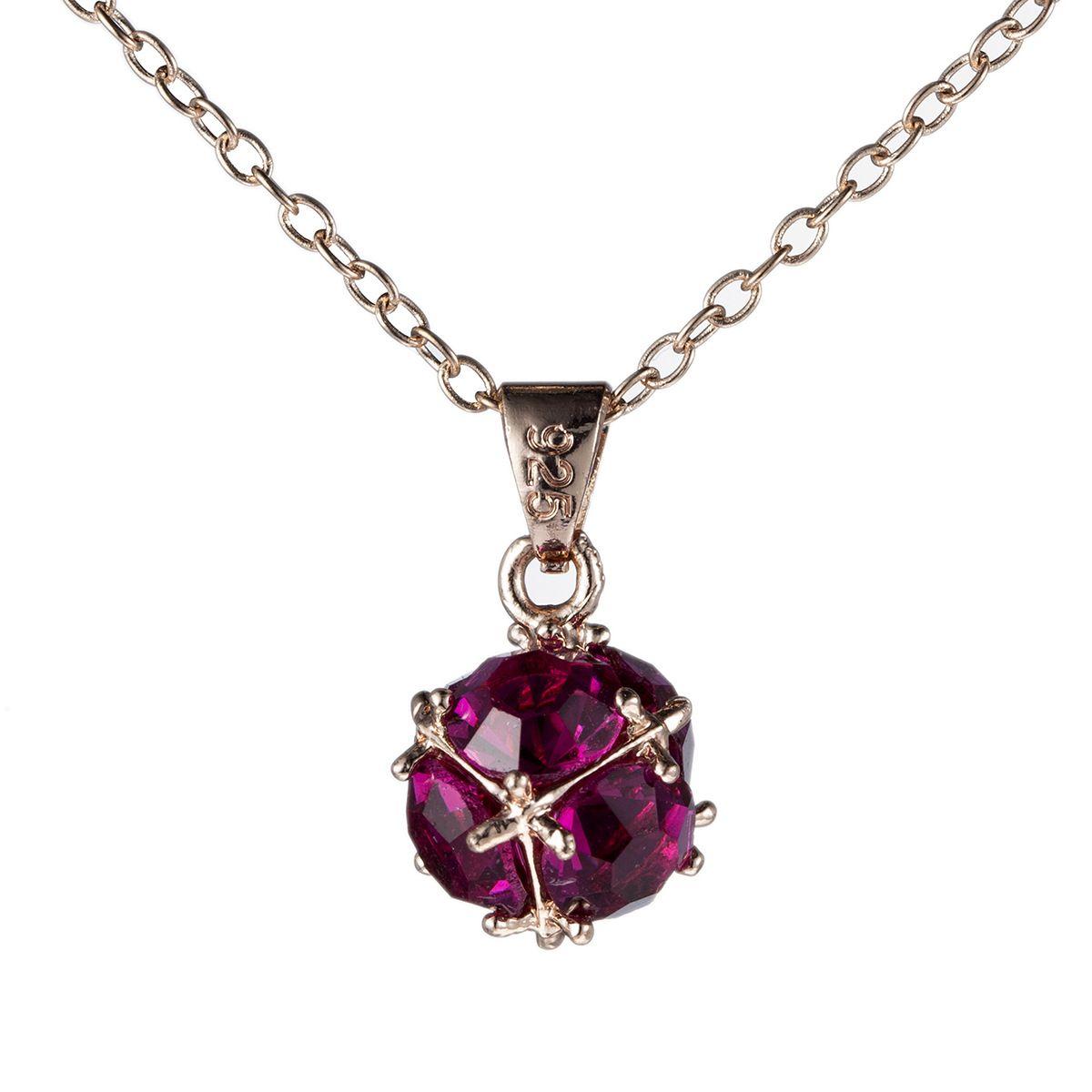 Nuevo 12 Unids / lote Luckyshine Rose Gold Red Gems Clusters Crystal Gems Colgante Novia Joyería de La Boda CZ Collares Pendientes Regalo