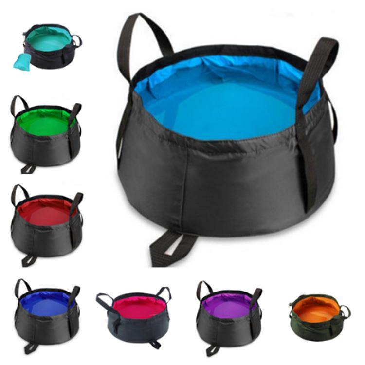 10 цветов портативный складной умывальник открытый ведро умывальник мешок воды горшок для кемпинга умывальник Рыбалка ведро T2I5116