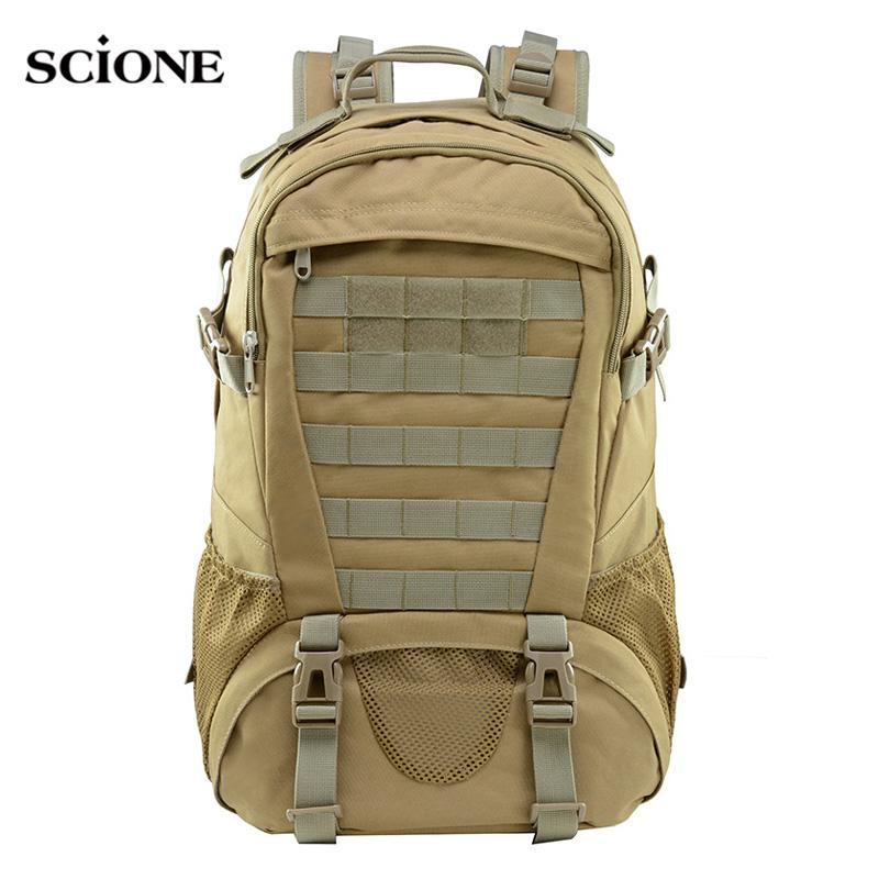 3D Men Tactical Backpack Climbing Rucksacks Large Capacity Travel Hiking Trekking Camping Bag Outdoor Sport XA757WA
