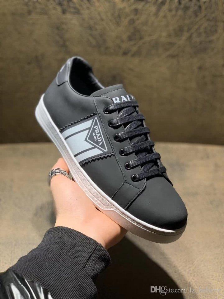 роскошьdesignerHigh качества Модных мужская повседневная спортивная обувь, 4 цвета, мужской кожа случайных шнурки коробка