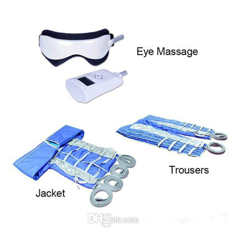 Traje Pérdida de presión en casa Salon Presoterapia Aire adelgazar máquina para formar del cuerpo de drenaje linfático Detox masaje del cuerpo de Peso