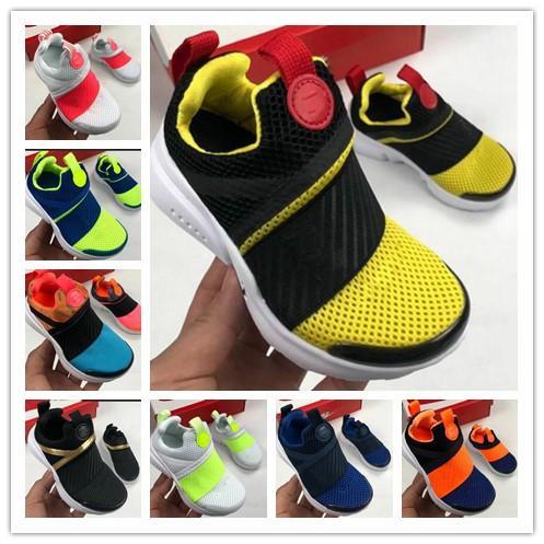 James4 2019 niños del diseñador de los zapatos corrientes del presto niños muchachas del muchacho prestos Negro Amarillo Oro al aire libre para niños pequeños jogging entrenadores deportivos zapatillas de deporte