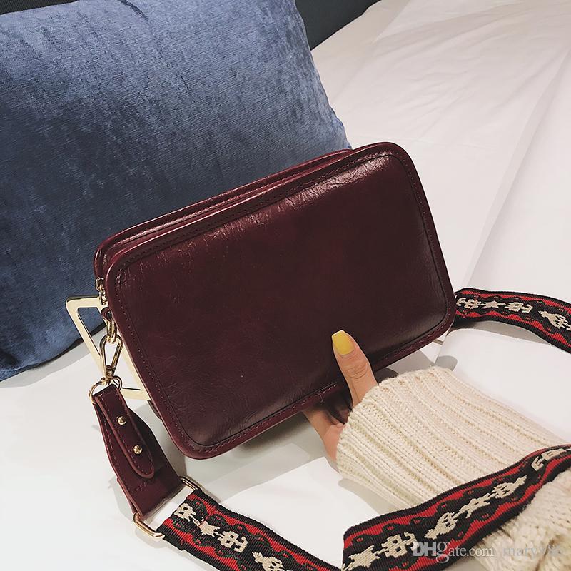 Lady Geniş omuz askısı Omuz Çantaları şeker çanta Messenger Çanta lady Sözleşmeli Kilit Omuz Çantaları shangdaoyuan / 11