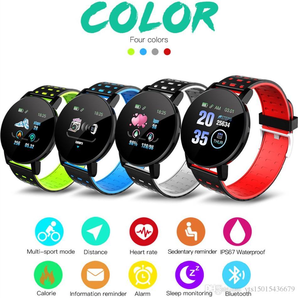 Wholesale New 119Plus 2019 Bluetooth Smart Watch Men Blood Pressure Smartwatch Women Watch Sport Tracker WhatsApp For Android Ios