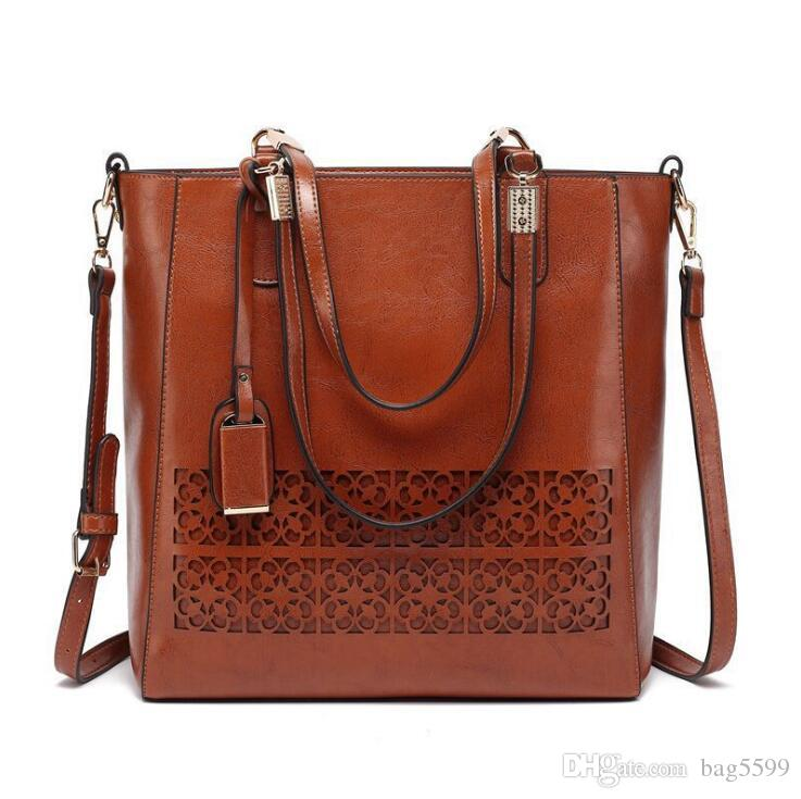 HBP Women's bags European and American fashion new handbags 2021 new women's bags hollow oil leather bags