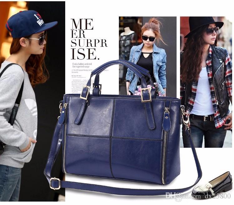 2019 новый женская сумка дизайнер сплит кожаный мешок женская сумка бренд Сумка женская сумка WLHB974