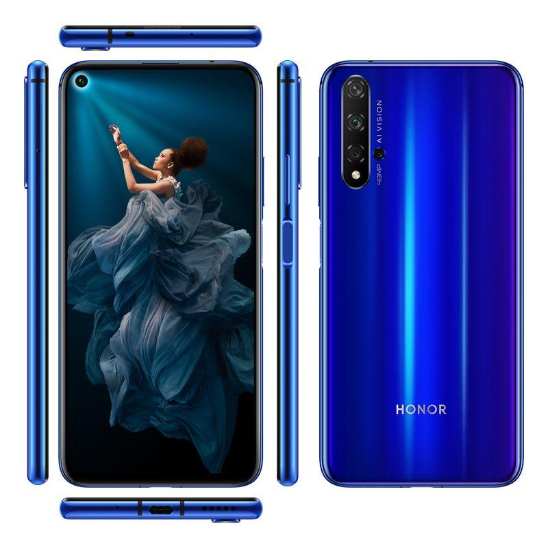 "Original Huawei Honor 20 4G LTE Cell Phone 8GB RAM 128GB 256GB ROM Kirin 980 Octa Core 6.26"" Full Screen 48MP NFC Face ID Smart Mobile Phone"