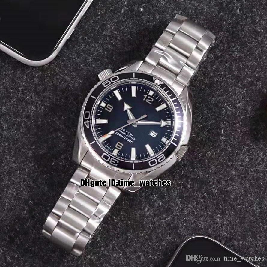 NEW Planet Ocean 600m Steel Case 232.30.42.21.01.001 Automatic Mens Watch Black Dial Sapphire Glass Men's Watches Steel Bracelet