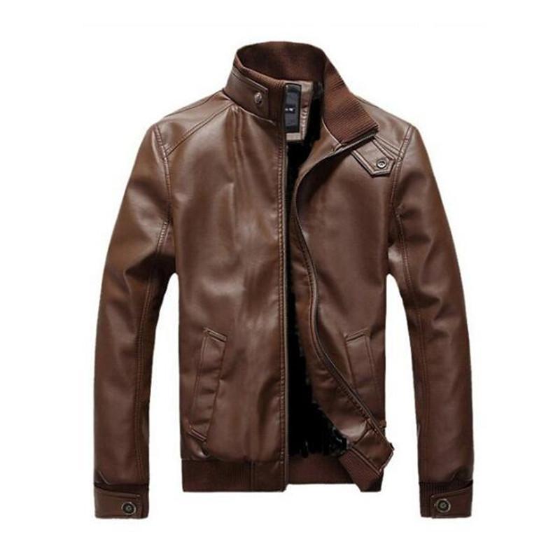 Dropshipping Nuovo arriva giacche in pelle da uomo in pelle da moto da uomo giacche in pelle jaqueta de couro masculina da uomo