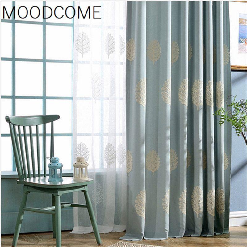 Tende per soggiorno sala da pranzo camera da letto L'albero del moderno e minimalista tende ricamate studio tenda camera da letto E