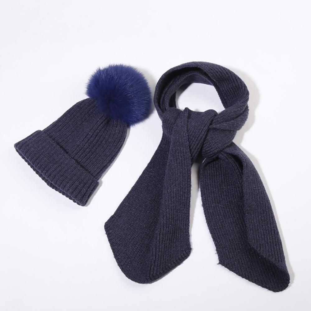 Tabpole Conjunto de Sombreros Y Bufandas para Beb/és Punto de Invierno C/álido Pompones Gorro Gorro de Esqu/í Y Bufanda Calentador de Cuello para Ni/ños Ni/ñas