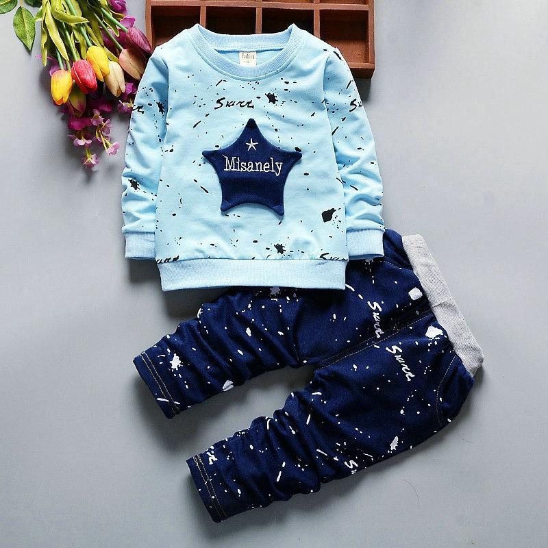 ملابس أطفال ستار طباعة زي الهيب هوب للأطفال الفتيات مجموعات الملابس كامل طول عارضة ملابس طفل الفتيان 1 2 3 4 سنوات