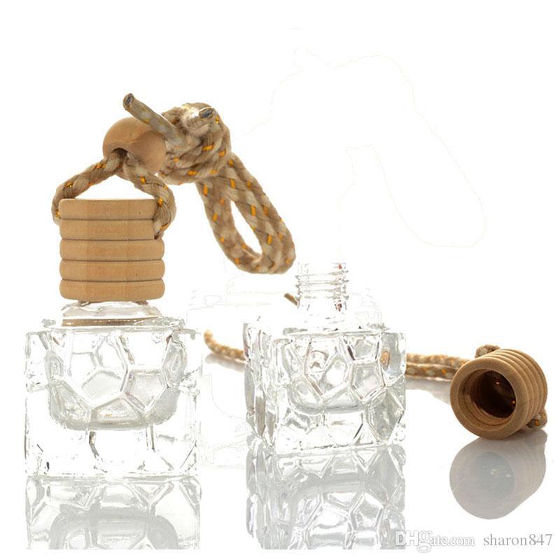 10ml Araç Parfüm Şişeleri kolye Hava spreyi Parfüm Koku Yayıcı Esansiyel Yağ Asma Ev Süsleme Dikiz Aynası Dekorasyon Aroma
