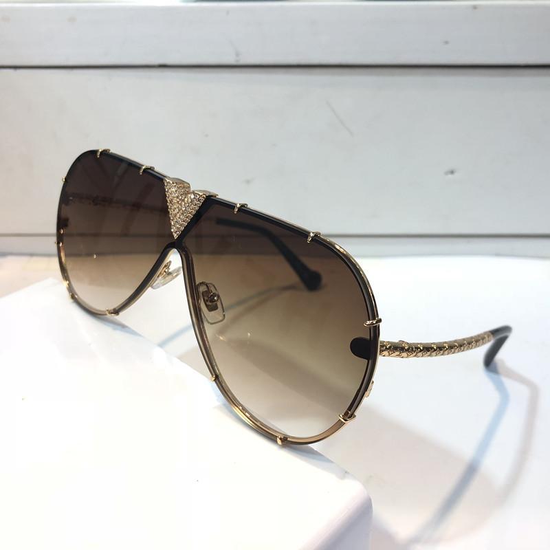 MILLIONAIRE Sunglasses Z1060 con le piccole pietre Retro Occhiali da Sole Oro Lucido Laser Stile Estate 1060 di qualità placcato oro Top