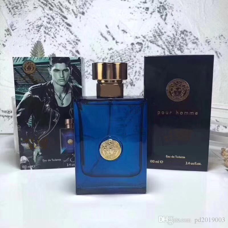 Na moda mar Deus eau de toilette natureza spray para homens 100 ml clássico fragrância garrafa azul longa duração spray.