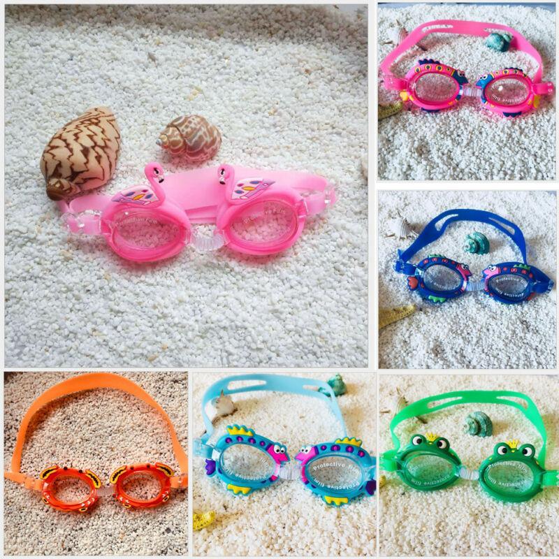 لطيف الكرتون المضادة للضباب السباحة نظارات نظارات واقية للتعديل للبنين أطفال بنات