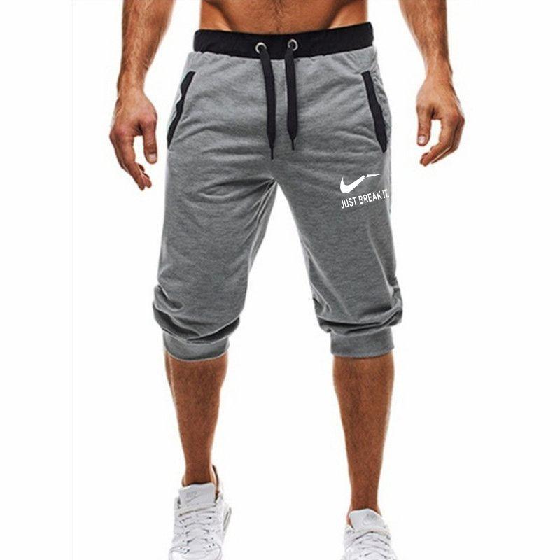 2019 nouvelle mode estivale loisirs hommes longueur au genou shorts couleur patchwork il suffit de rompre jogging short pantalons de survêtement homme bermuda