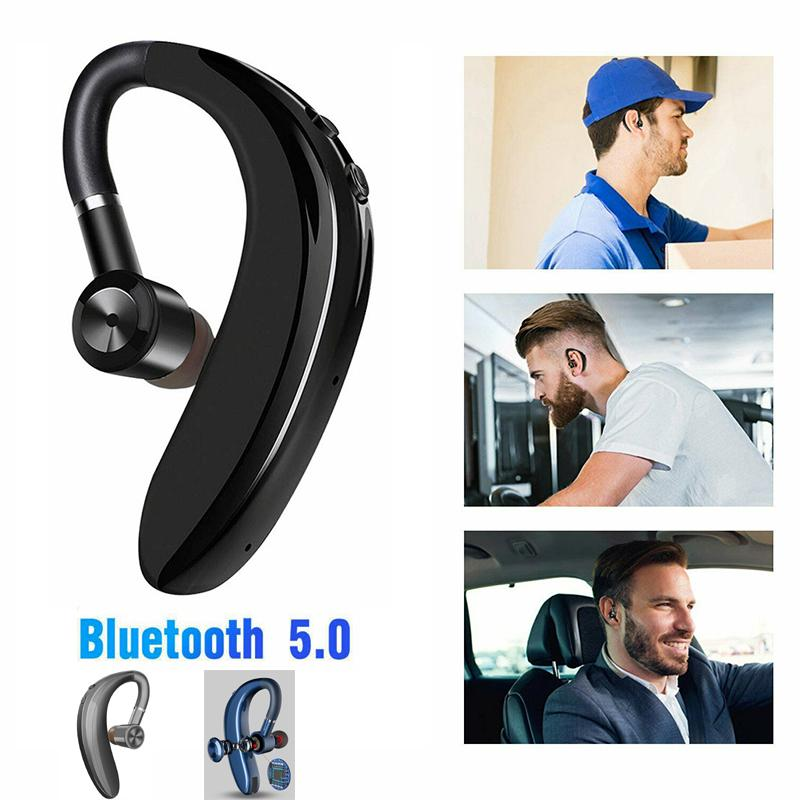 5.0 Bluetooth Earphones s109 ear hook Wireless Headsets Nosice Cancelling HD MIC Handsfree Business Driver for iPhone with Retail Package