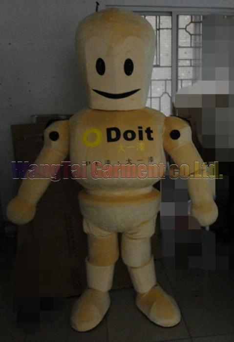 Hochwertiger Holz-Roboter-Maskottchen-Kostüm Karneval Zweig Parade Qualität Clowns Halloween-Party-Aktivität Fancy-Ausstattung Verschiffen frei