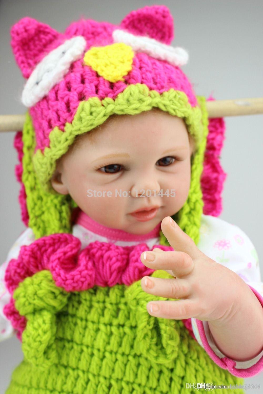 кукла 50см супер реальная реалистичная мягкий силиконовый винил возрожденного новорожденного ребенка