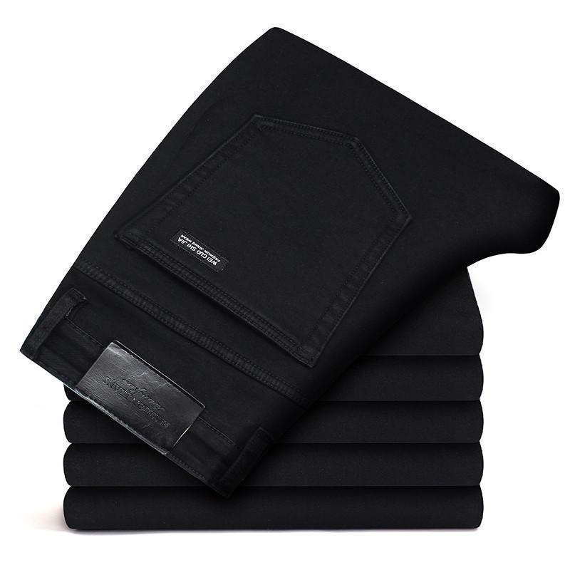 Marken Hosen Männer Kleidung New Black Elasticity Röhrenjeans Business Casual Männlich Denim Slim Pants Classic Style Q190514