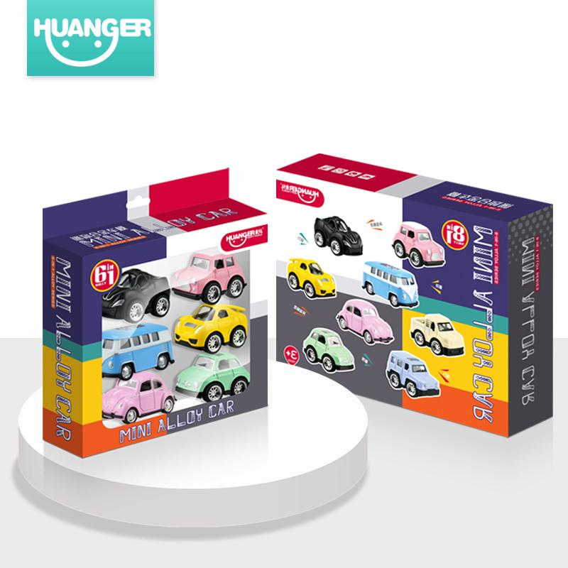 Huanger Mini Cute Car Diecasts Model Classic Toy Vehicles Fast&furious Car For Boys Cartoon Children Christmas Gift J190525