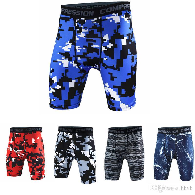 Deportes, pantalones cortos de fitness para hombres NUEVA, de moda, entrenamiento delgado, correr, ejercicio, entrenamiento, gimnasio, musculación, secado rápido, transpirable, camuflaje, pantalones cortos