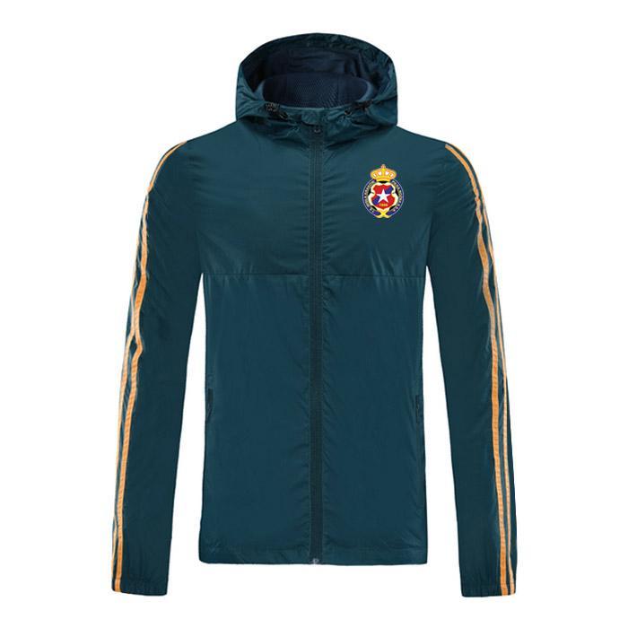 2020 Wisla Krakow calcio giacca con cappuccio con cerniera a vento mens calcio giacca a vento superiore della chiusura lampo del hoodie Sportswear Giacche corsa