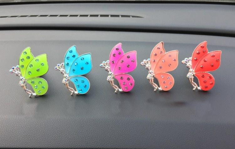Creativo Mariposa Coche Aire acondicionado Ventilación Clip Coche Ambientador Difusor de perfume Glamour Moda XCZ706