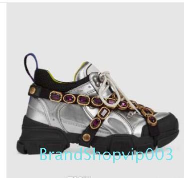 Designer Shoes FlashTrek con cristales desmontables para hombre de la zapatilla de deporte de moda diseñador de las mujeres Zapatos Casual las zapatillas de deporte 35-45 C20