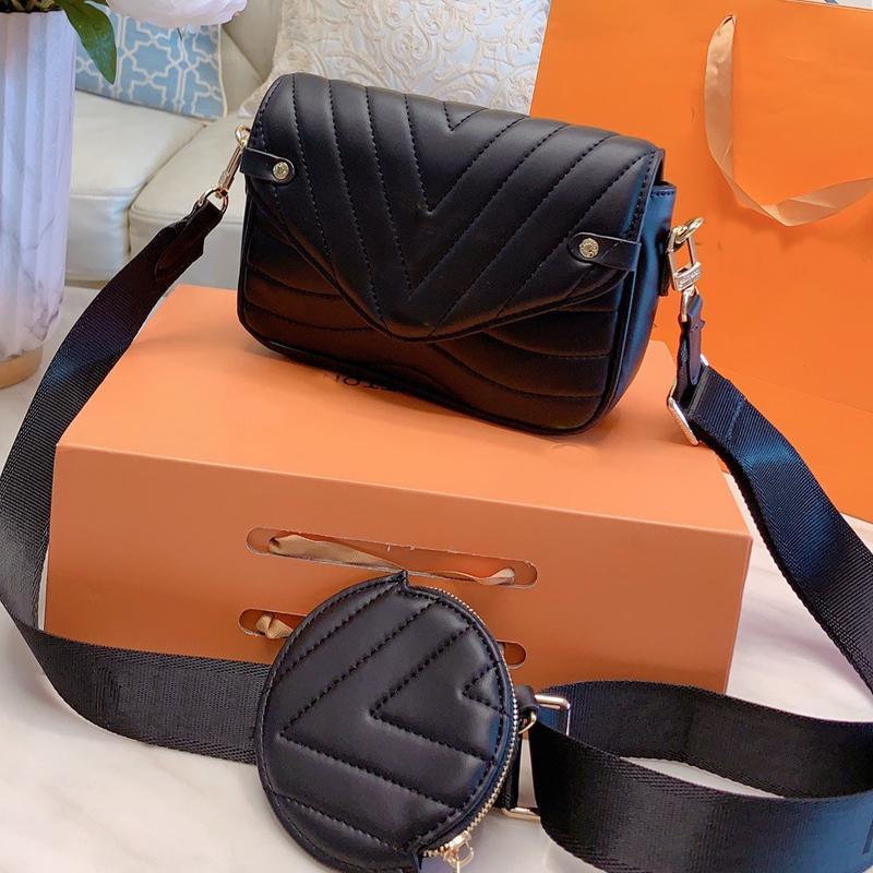 Tasarımcı Lüks Çantalar Cüzdanlar Fannypack Marka Kadınlar Crossbody Çanta Moda Dokuma Omuz Kayışı Kişilik İki Adet Yüksek Kalite Düz