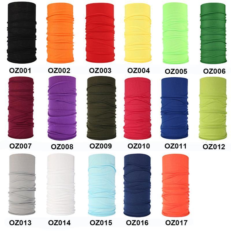 Sólido encargo del pañuelo de la venda de las bufandas del tubo liso sin fisuras Bandanas Ciclismo Mascarilla Escudo Senderismo bufandas Bragas de cuello 100pcs / lot