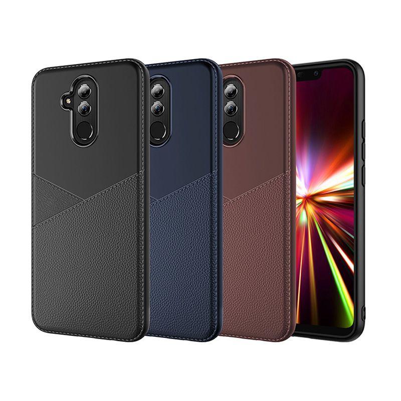 Estuche de cuero de silicona TPU híbrido suave para Huawei Y5 Y6 Prime Y7 2018 Y9 2019 P Smart P20 P30 Pro Nova 4 Mate 20 Lite Juego de honor 7 7S 8X