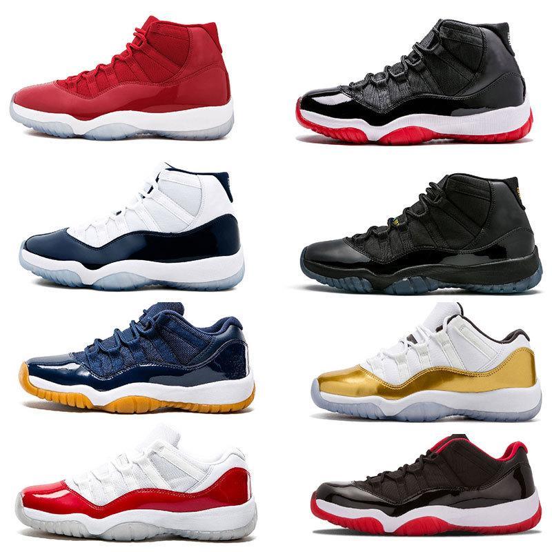 тапки баскетбол обувь 11 XI Низкий хороший университет Голубой Белый Мужчины Баскетбол Обувь 11s UNC Спортивные тренажеры Кроссовки размер 36-47